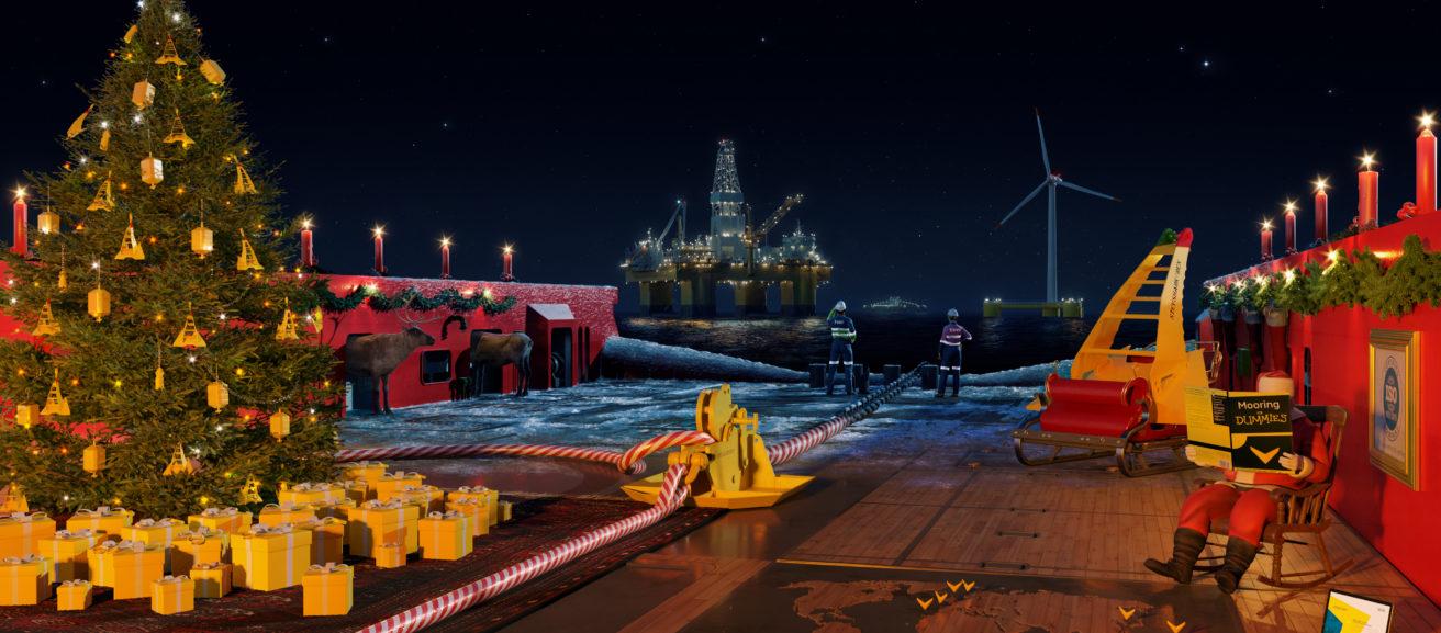 DOCK90_Santa's Anchor Handling Vessel_Christmas Greeting Vryhof 2020